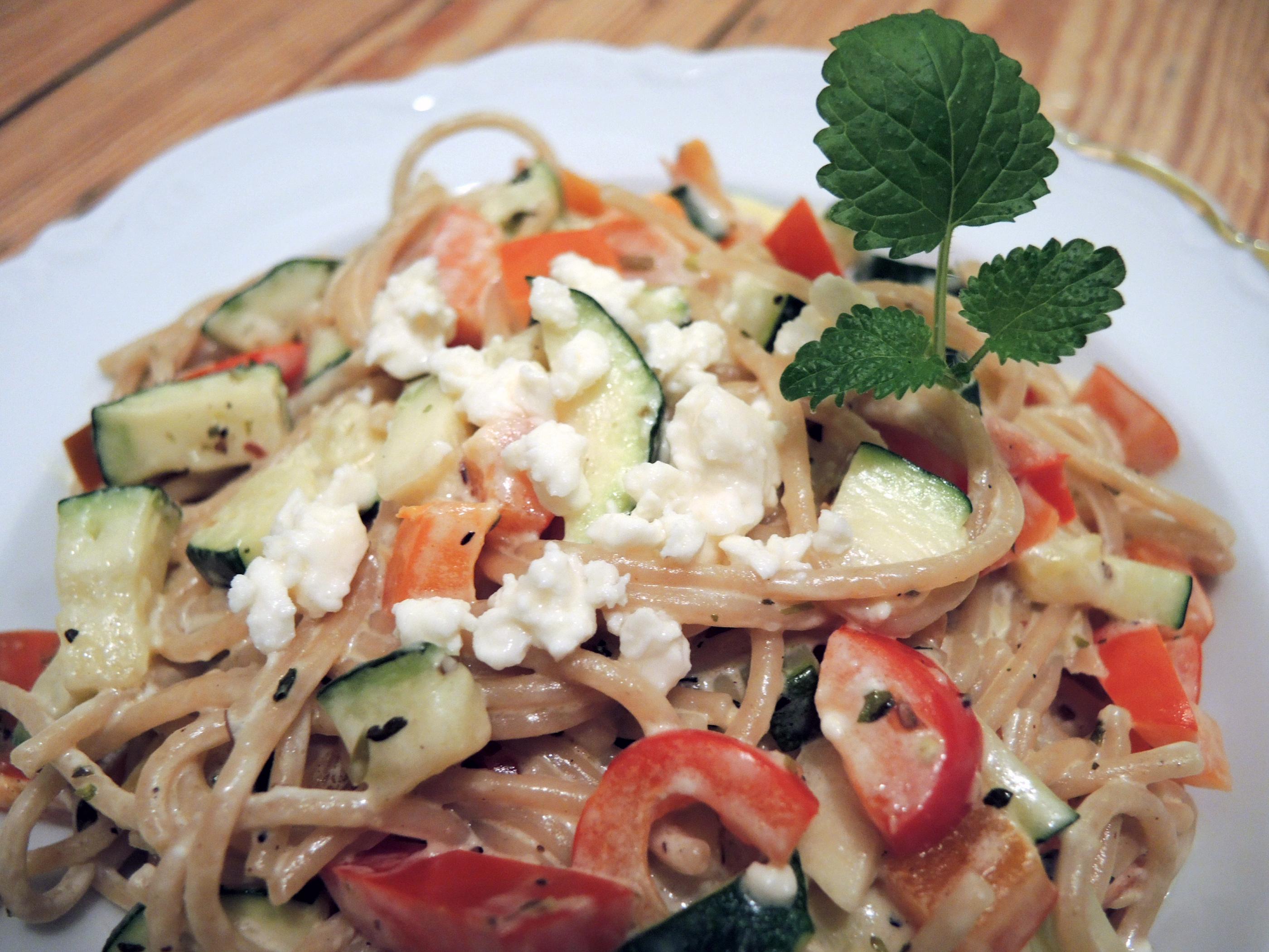 rezept zucchini feta